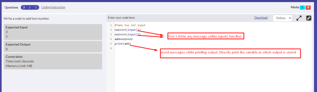 Code Editor Print Message